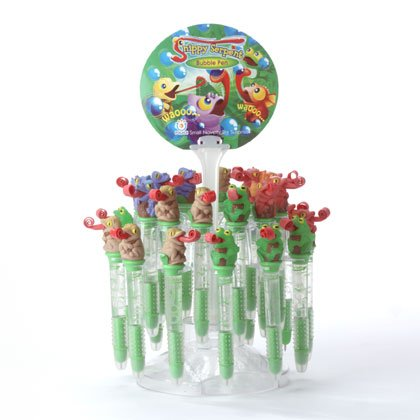 35374 2 DZ Snippy Serpent Bubble Pens with Stand (Retail - 2.99ea.)