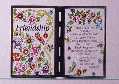 """25014 Simulated Stained Glass """"Friendship"""" Plaque"""