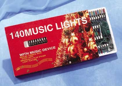 25834 140 Musical Christmas Lights