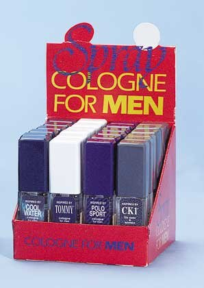 27379 2 DZ Half oz Cologne For Men Display (Retail - 4.99ea)