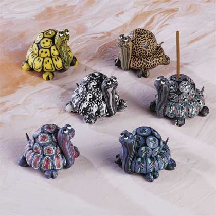 28460 6 Assorted Fimo Incense Holders - Turtle (Retail - 3.99ea.)