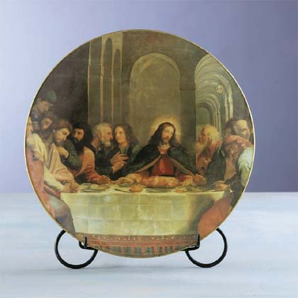 29299 Plate With Last Supper Print