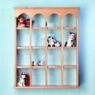 29476 16-Compartment Wood Wall Curio