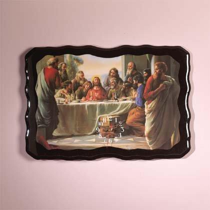 29488 Last Supper Wood Clock