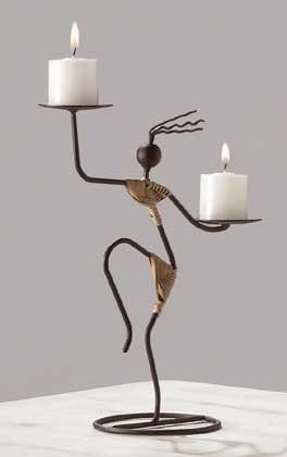 29624 Tribal Dancer Candleholder