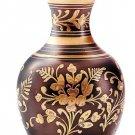 30356 Brass Pewter Vase - Flower