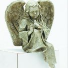 30878 Verdigris-Finished Angel With Bird