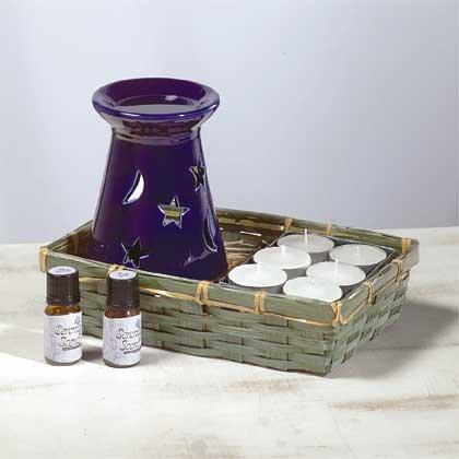 31034 Ceramic Oil Burner - Star & Moon