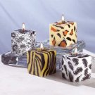 31125 4-Piece Safari Cube Candle