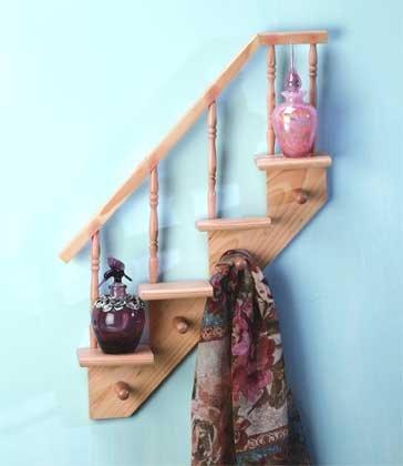 31250 Wood Staircase Shelves