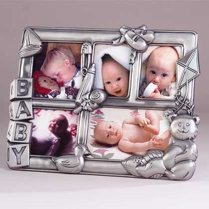 31322 Pewter Baby Collage Frame