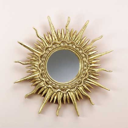 31397 Gold Plated Sun Ray Mirror