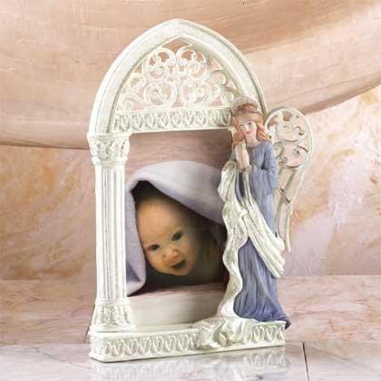 31409 Alabastrite Praying Angel Photo Frame