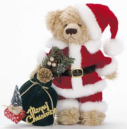 31509 Plush Santa Bear With Bag