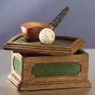 31566 Golf Club and Ball Desk Box