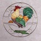 31697 Rooster Suncatcher Plaque