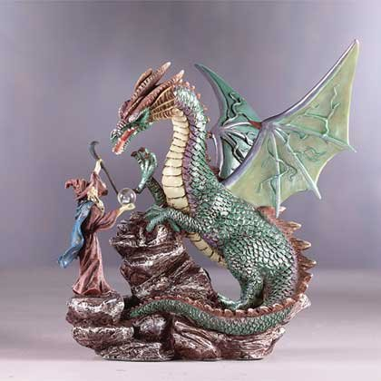 31705 Dragon and Merlin Statue