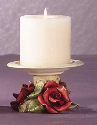 31712 Red Roses Votive Candleholder