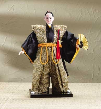 31751 Samurai Doll on Wood Base