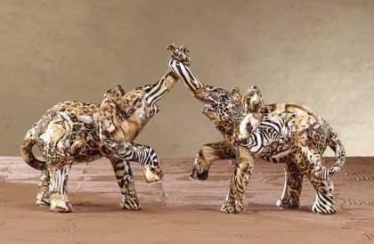 31776 Patchwork Elephant Couple-Safari