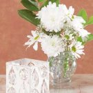 32010 Metal Candleholder with Glass Crystals