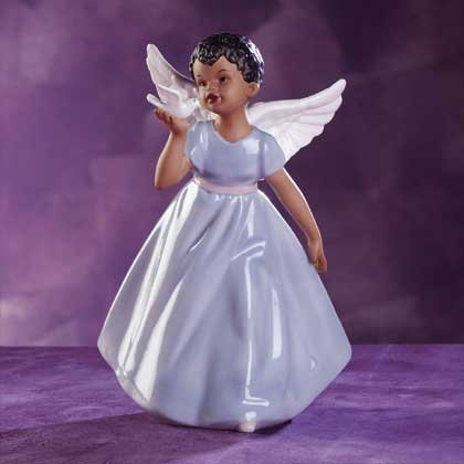 32185 African American Angel & Dove