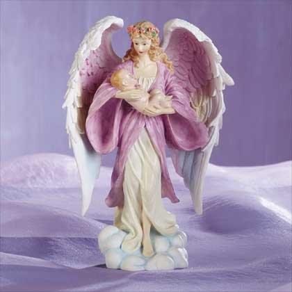 32203 Angel Holding Baby Figurine
