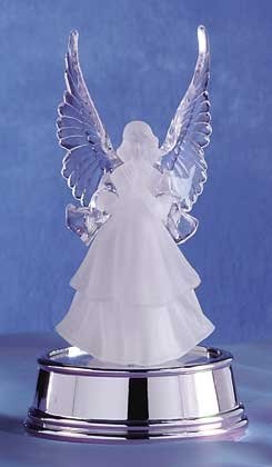 32244 Frosted Angel with Multicolor Light