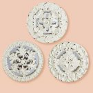 32367 Distress Medallion Mirror Set3
