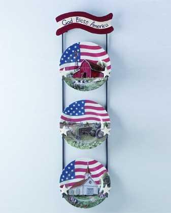 32382 4pc Americana Plate and Rack