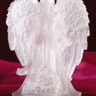 32385 Frosted Guardian Angel with Multicolor Light