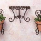 32406 Wrought Iron Cafe Wall Planters