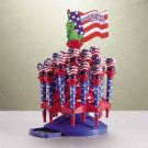 33072 2-Dozen Americana Heart Light Pens with Stand (Retail - 1.99ea.)
