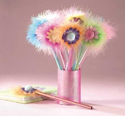 33125 1 Dz Flower Pens In Box