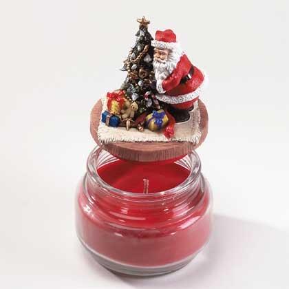 33560 Santa Top Scented Candle Jar