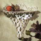 33593 Metal Magnolia Wall Shelf