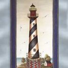 33598 Metal Lighthouse Plaque