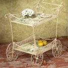 33599 Metal Magnolia Tea Cart