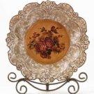 33625 Porcelain Antique-Finish Rose Plate