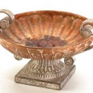 33627 Porcelain Antique-Finish Rose Compote