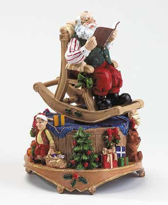 33703 Rocking Chair Santa Musical