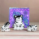 33712 Cat Salt and Pepper, Napkin Holder