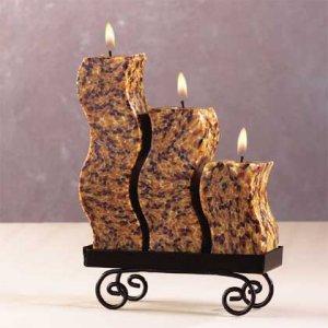 33724 Snakeskin S-Shaped Candle Set