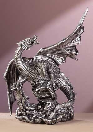 33759 Pewter Finish Dragon