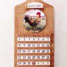33772 Rooster Clock and Perpetual Calendar