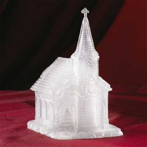33798 Frosted Church Multicolor Light