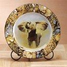 33829 Porcelain Patchwork Elephant Plate