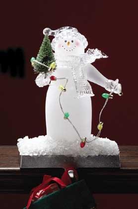 33848 Snowman Stocking Holder and Light