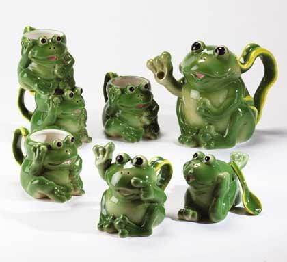 34055 Frog Tea Set