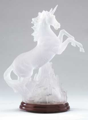 34059 Frosted Unicorn with Multicolor Light